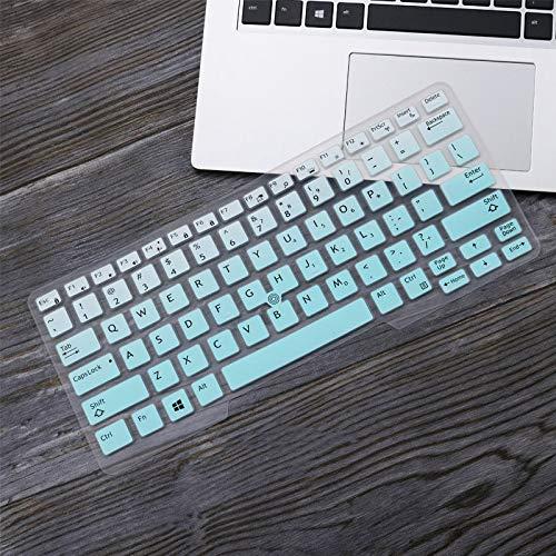 Durable keyboard stickers Laptop Keyboard Cover Protector Skin for 14' Dell Latitude 5450 3340 7480 7490 5490 5491 E5450 E5470 E7450 E7490 E5490 Keyboard accessories (Color : GradualSkyblue)