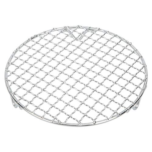 Josopa Round Barbecue Wire Rack, Stainless Steel Cross Wire Steaming Cooling Racks/Baking Net/Grills/Pan, 7.1 Multi-Purpose Baking Mesh Holder for Airfryer Instant Pot/Pressure Cooker