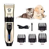 ペット用バリカン ペットクリッパー 犬用 猫用 トリミングバリカン ヘアクリッパー 充電式 水洗い可