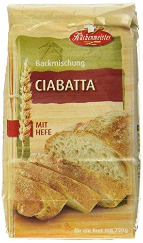 Bielmeier-Küchenmeister Brotbackmischung Ciabatta, 15er Pack (15 x 500g)