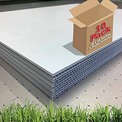 """18"""" x 24"""" - 10 Pack - Blank Yard Signs with Stakes 