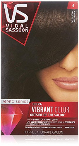 Vidal Sassoon Pro Series, 4 Dark Brown, 1 Count