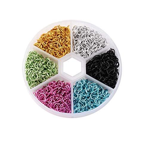 Qinghengyong New 6mm Aluminum Wire Open Jump Rings rings aluminum jump Mixed Colors Plastical Box DIY Decoration Accessories