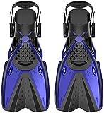 Qjkmgd Aletas de Buceo Adult Scuba Snorkel Pie Flipper Aletas de natación Equipo de Buceo Portátil Zapatos de Rana Corta (Size : XL)