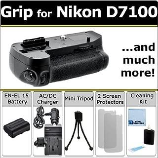 Multi Purpose Battery Grip for Nikon D7100 DSLR Camera + EN-EL15 Long Life Battery + AC/DC Turbo Charger w/Travel Adapter + Complete Deluxe Starter Kit (MB-D15 MBD15)