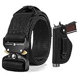 BESTKEE Tactical Belt EDC Gun Belt, 1.5' Nylon Web Heavy Duty Riggers Belts, Gift with Gun Holster