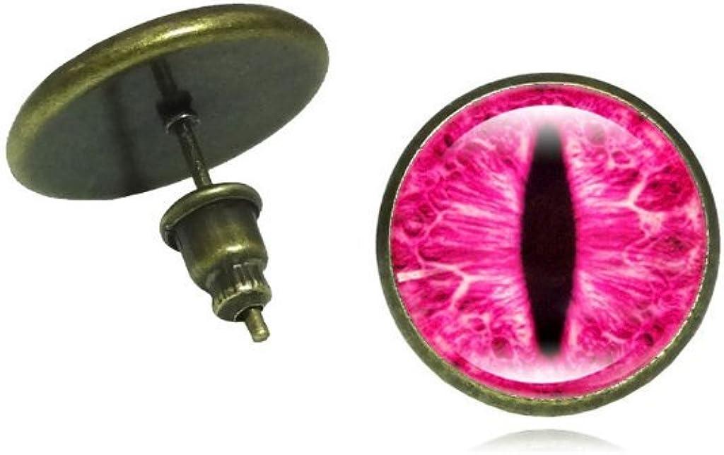 eye Stud Earring Jewelry Art Glass Cabochon Earrings For Women Accessories