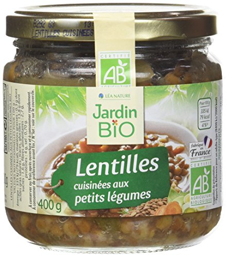 Jardin Bio Lentilles Cuisinées aux Petits Légumes 400 g