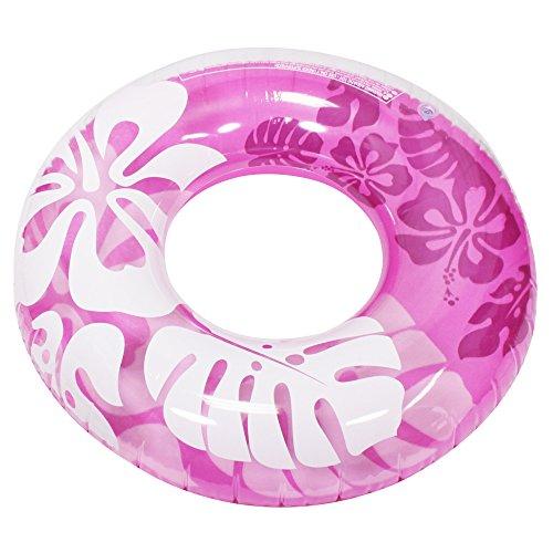 com-four® Schwimmreifen, Schwimmring im Hawaii-Design in sommerlichen Farben, Ø 89,5 cm