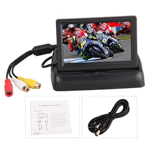 BW Écran pliable Digital TFT LCD Pour caméra vue arrière de voiture, moniteur de sauvegarde