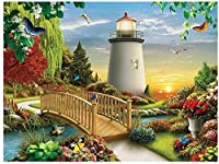 大人のためのDIY油絵キットキャンバス絵画番号でペイント家の装飾壁最高の贈り物春に咲く花-40cmx50cm