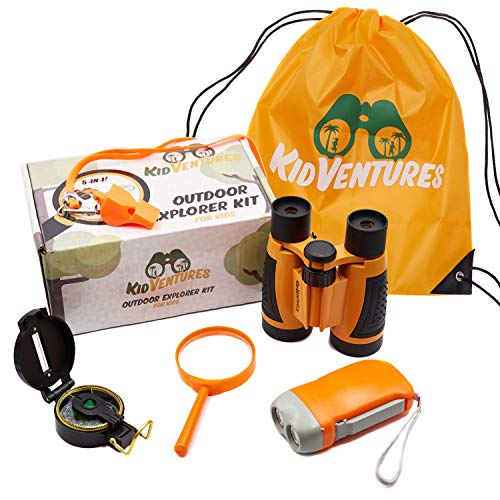 KidVentures Outdoor Explorer Kit for Kids - Toy Binoculars, Flashlight for Kids,...