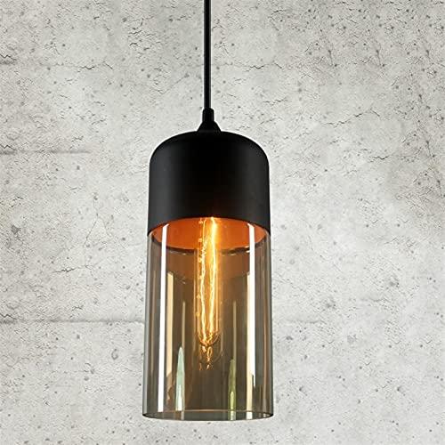 Accesorio de iluminación Lámpara colgante de vidrio de vidrio de loft moderno nórdico E27 E26 LED Luces colgantes para la cocina Restaurante Bar Sala de estar Dormitorio ( Color : Amber , Size : C )