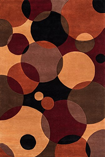 Momeni Rugs New Wave Collection, 100% Wool Hand Carved & Tufted Contemporary Area Rug, 5'3