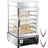 VEVOR 110V Commercial Bun Steamer, 6-Layer Restaurant Bun Warmer, Electric Food Steamer with 15.2x16.5-Inch Racks, 30-110℃/86-230℉ Bun Bread Steamer Machine, 1200W Hot Dog Steamer Warmer, for Buffet