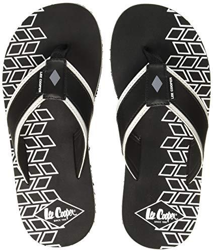 Lee Cooper Men's Black Flip-Flops - 8 UK (42 EU) (9 US) (LC3305F)