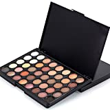 40 Colors Cosmetic Matte Eyeshadow Cream Makeup Palette Shimmer Set 40 Color+ Brush Set by Chaofanjiancai