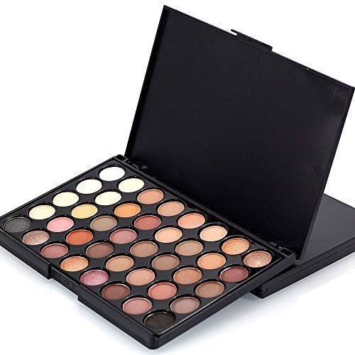 40 Couleurs Fards à Paupières Paillettes Palette Contouring Poudre Palette Maquillage Yeux Pas Che + Brosse Tonsi