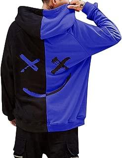 HTDBKDBK Hoodies for Men Unisex Fashion Personality Teen's Smiling Face Fashion Print Hoodie Sweatshirt Jacket Pullover