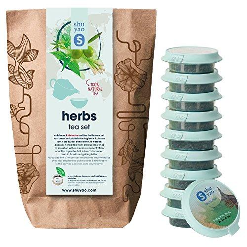 Shuyao Herbs Tea Set 10x Kräutertee direkt aus dem Kräutergarten (30g)
