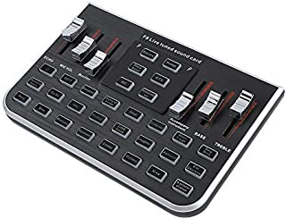 fosa Portable Live Sound Card Mobile Phone Live Broadcast Karaoke Voice Changer with 4 Variants Tones Mixers Sound Card Li...