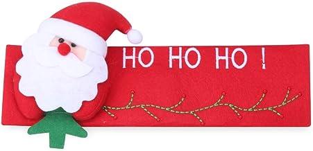 dressplus 24 guantes de 16 cm para manija de puerta, para frigorífico, Navidad, frigorífico, frigorífico, lavavajillas, puerta de Papá Noel, horno de microondas (Santa-derecho)