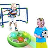 Kids Toys Hover Soccer Ball Set with 2 Goals, Air Soccer with LED Lights, Floating Soccer Ball with Foam Bumper, Fun Indoor Football Gifts for 2 3 4 5 6 7-12 Boys, Girls,Toddlers Toys