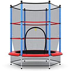 ❤️ Protective Padded Frame- With full safety enclosure net, the trampoline will give you the confidence to let your little one bounce around in peace! And the foam tube can protect your kid from injury, ensuring the full safety of your little childre...