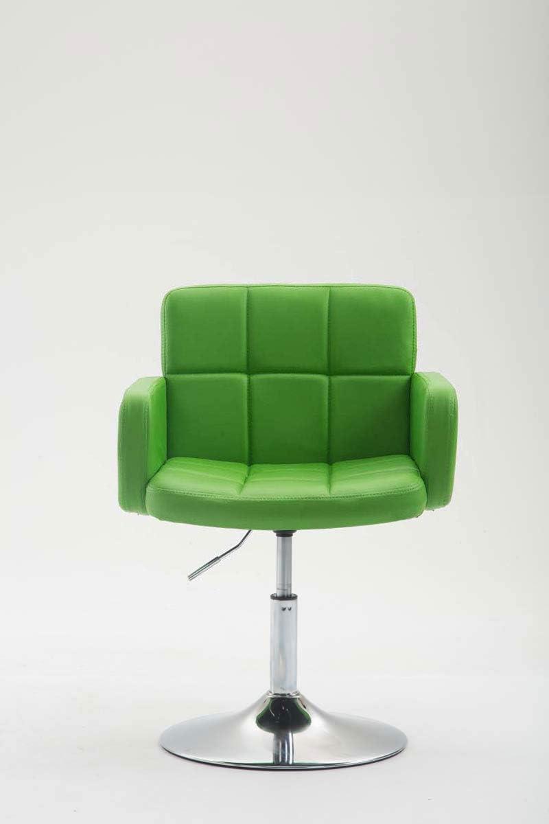 Fauteuil Lounge Design Los Angeles Similicuir I Chaise Design Réglable en Hauteur et Pivotante I Chaise de Salle à Manger I Couleur:, Couleurs:Noir Vert
