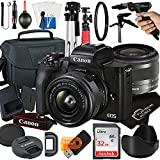 Canon EOS M50 Mark II Mirrorless Digital Camera with 15-45mm STM Zoom Lens + Platinum Mobile Accessory Bundle Package Includes: SanDisk 32GB Card, Tripod, Case and More (21pc Bundle)