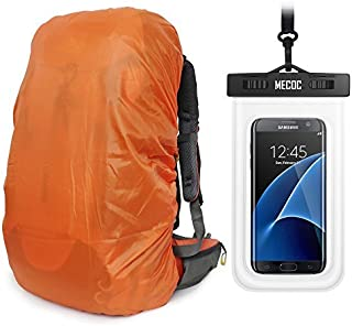 Orange Sport Ultralight Backpack Rain Cover with Pu Stored Bag and Cellphone Waterproof Case for Camping Hiking Cycling for iPhone 6S/6 etc.