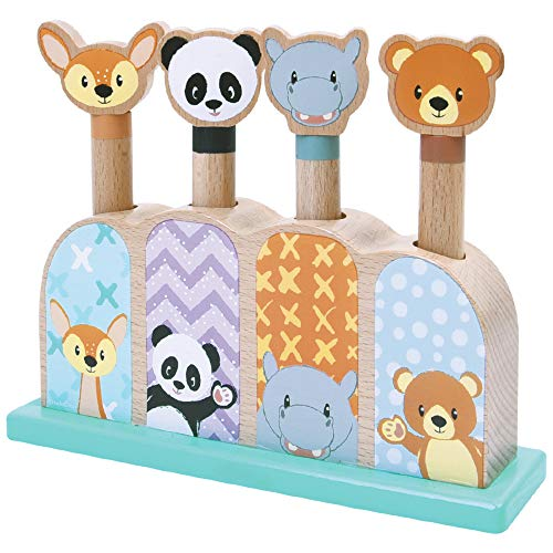 WOOMAX - Juego Pop Up de madera Animalitos Studio Circus(46449)