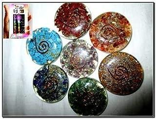 Mannen Chakra gegraveerde ronde set Reiki X-Mas Pouch Crystal edelstenen