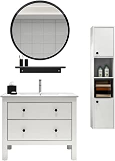 ZYLE الحائط جولة مرآة الحمام ماكياج خلع الملابس مرآة الديكور الإبداعي شنقا مرآة (Size : 50cm)