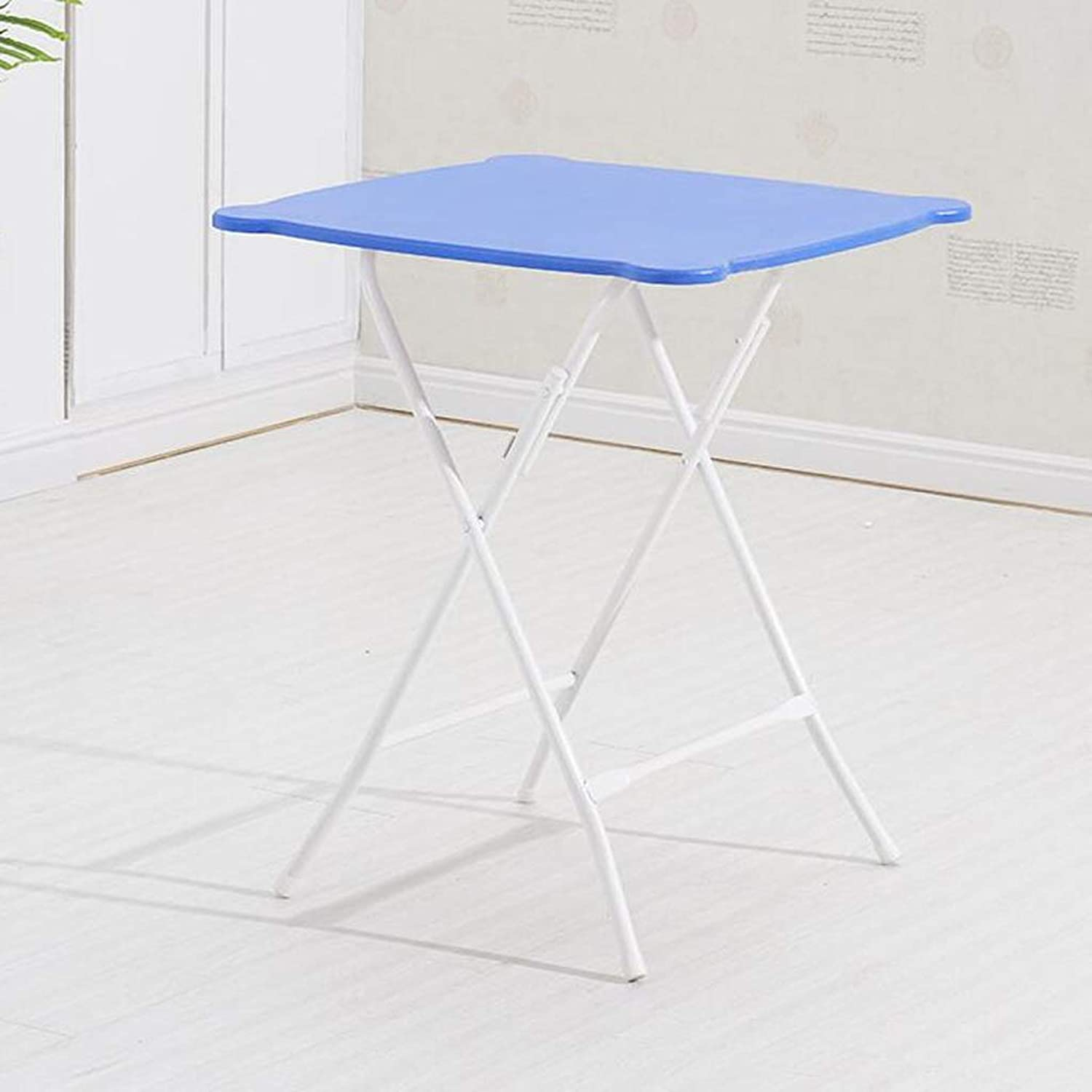HBJP Folding Table Dining Table Home Simple Small Apartment Portable Table Square Round Small Table Multi-color Optional Folding Table (color   C)