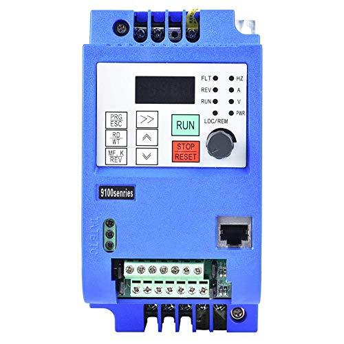 YUXIwang Motor VFD, variador de frecuencia, 1,5 KW Monofásico Entrada CNC convertidor, Controlador de inversor Profesional for la Fase 3 de Control de Velocidad del Motor