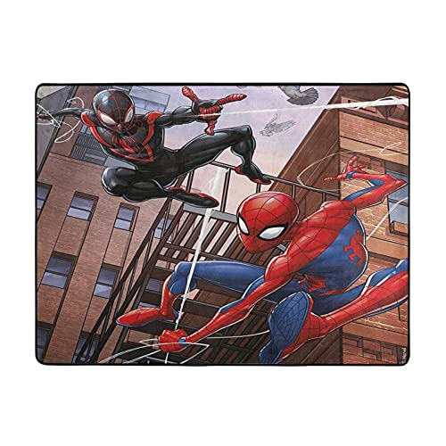 Tapis de jeu Marvel Spiderman pour bébé - Épais et doux - Tapis de jeu éducatif en coton gris - Tapis rond - Grand pour le sol de la chambre d