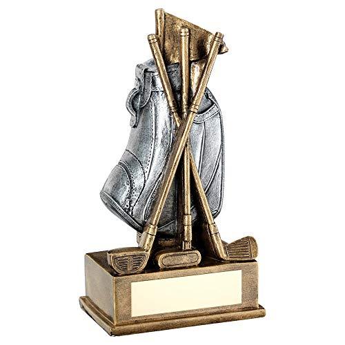 Womack Graphics Brz/Pew Golftasche mit Schläger-Trophäe – 17,8 cm mit kostenloser Gravur bis zu 50 Buchstaben JR2-RF594B