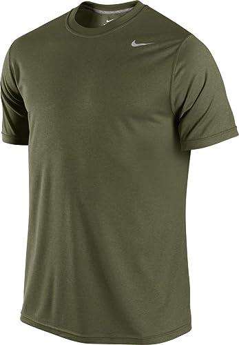 Nike Pour Pour des hommes Legend Poly Short Sleeve Top - Small - Rough vert Carbon Heather