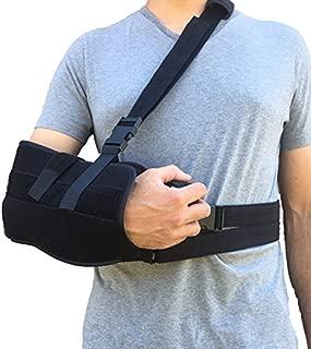 Alpha Medical Arm Sling, Shoulder Immobilizer with Abduction Pillow, Post-Op Shoulder Arm Brace, Universal.