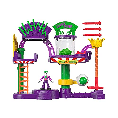 Product Image of the Fisher-Price IMAGINEXT DC Super Friends The Joker Laff Factory, Multi Color,...