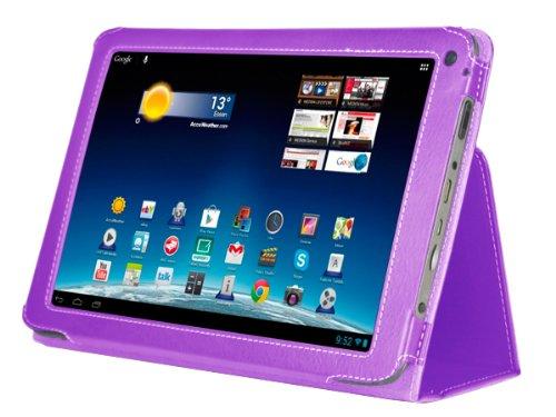 Navitech Lilane Executive Echte Premium Leder Flip Trage Tasche mit Einstellbarem Ständer für das Neue Medion Lifetab E10315 10,1 Zoll Internet Tablet