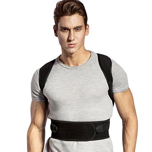 Corrección de postura, soporte recto para espalda, postura ajustable Corrector de postura de espalda Soporte de clavícula Corrección de postura Entrenador de postura de espalda transpirable ajustable