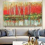 Lienzo Obra de arte abstracto Graffiti Color Paisaje Arte de la pared Pintura Sala de estar Carteles e impresiones Decoración del hogar Imagen 20x30cm (7.87x11.81in) Sin marco