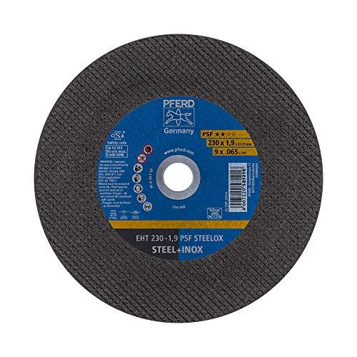 PFERD 69198293 Trennscheibe, 5 Stück | 230 x 1,9 x 22,23 mm, gerade, PSF STEELOX | für Stahl und Edelstahl (INOX)