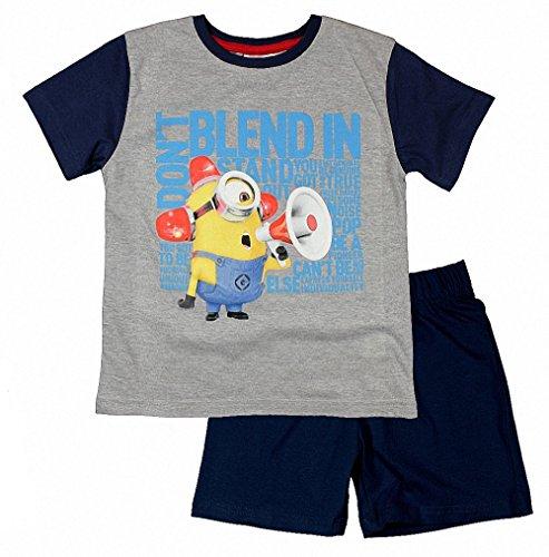Pijama de manga corta con licencia oficial de los Minions de Despicable Me para niños y niñas de 3 a 10 años
