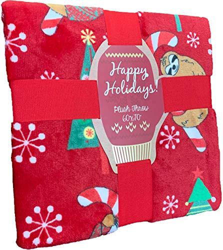 Pickle & Dot Decke, dick, glänzend, Plüsch, Weihnachtsfeiertagsdecke Oversized Throw 60