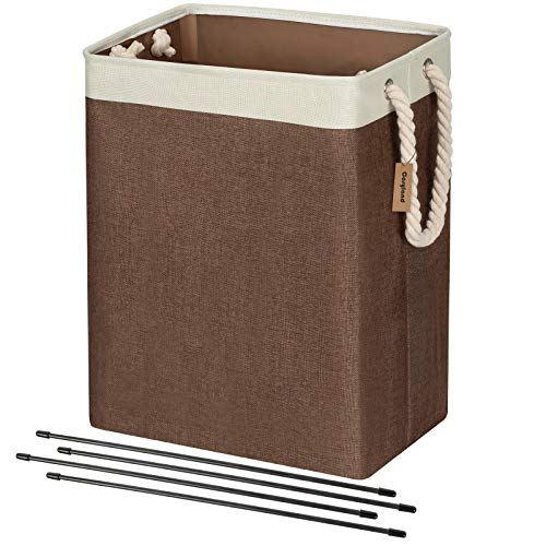 COSYLAND Laundry Basket with Rope Handles 65L Collapsible Linen Hamper Foldable Nursery Storage Baskets Bin for Bathroom Toys and Clothing Organization