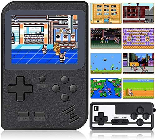 Console di gioco portatile, retro giocatore di gioco Mini, 400 giochi di FC classici, supporto per il collegamento della TV e due giocatori con batteria ricaricabile regalo per bambini e adulti