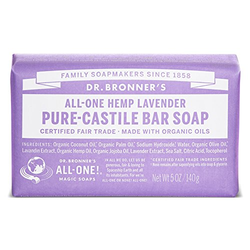 Dr Bronners Magic Soap All One Obla05 5 Oz Lavender Dr. Bronner'S Bar Soap